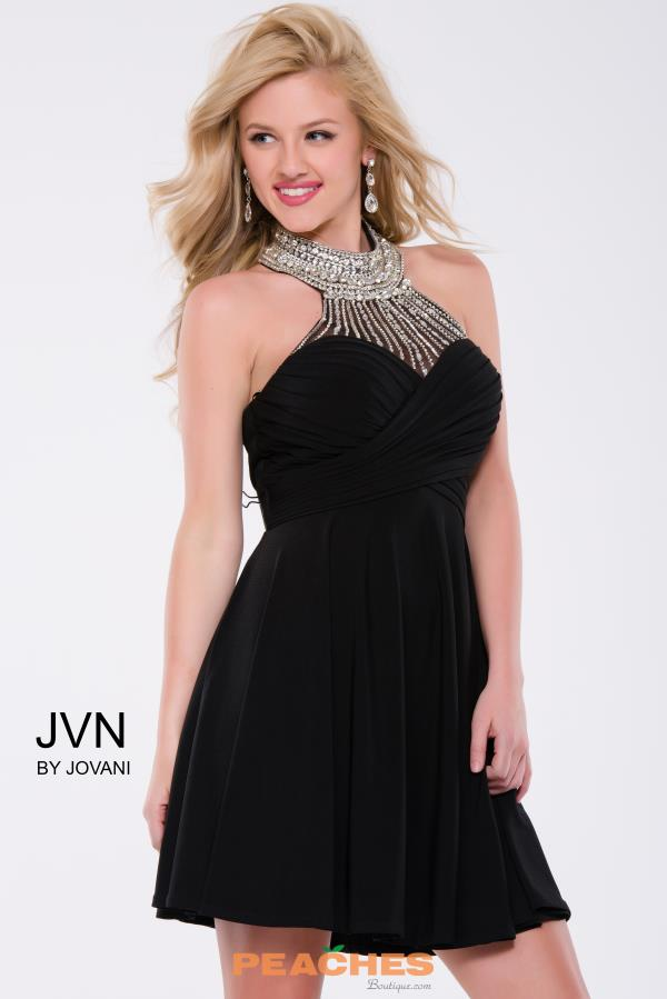 JVN by Jovani High Neckline Beaded Dress JVN42589