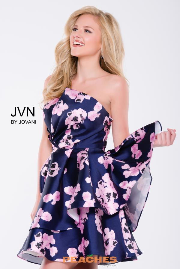 JVN by Jovani Short Print Dress JVN45681