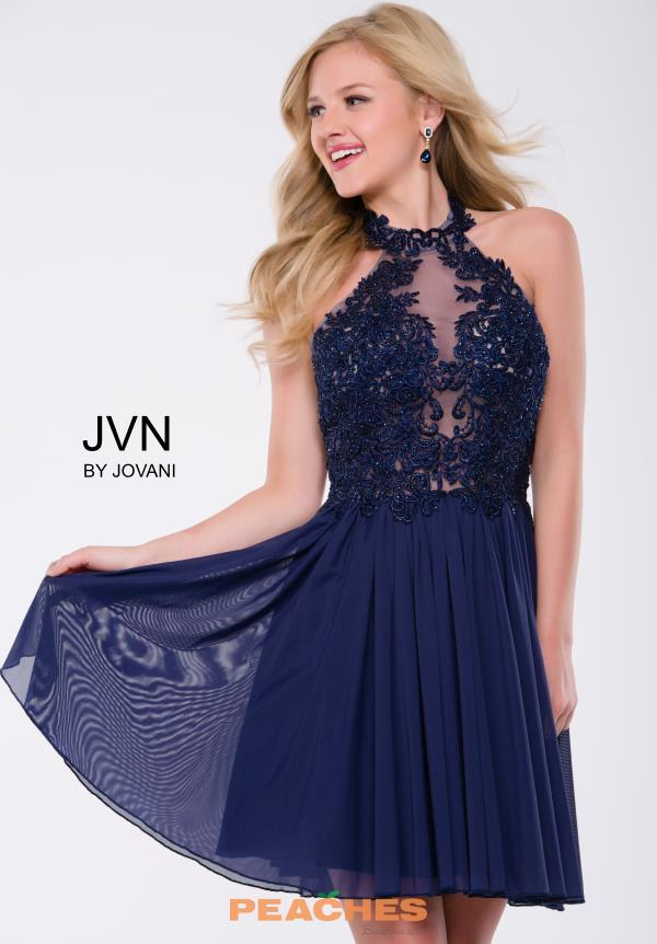 JVN by Jovani Halter Top Lace Dress JVN47314