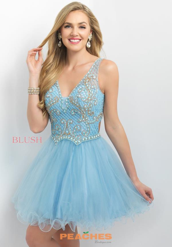 Intrigue by Blush Beaded A Line  Dress 206
