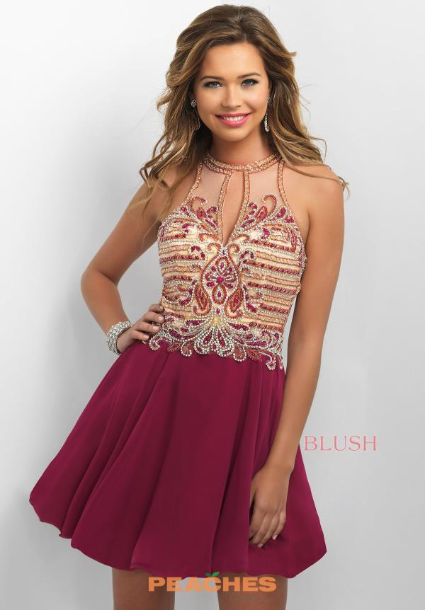 Intrigue by Blush Beaded A Line Dress 215
