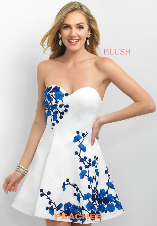 Intrigue by Blush Print A Line Dress 218