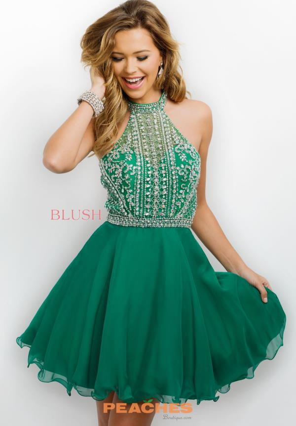 Intrigue by Blush Short Beaded Dress 233