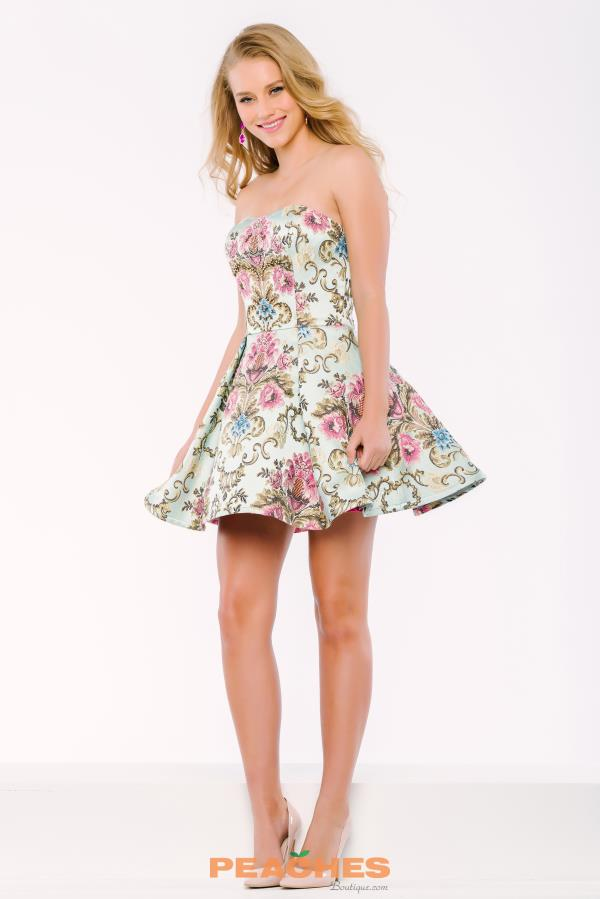 Short Floral Jovani Cocktail Dress 41732