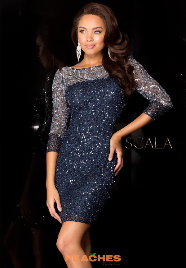 Scala Teal Fitted Dress 48524