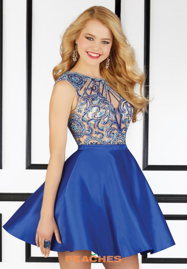 Beaded Short Mori Lee Sticks & Stones Dress 9402