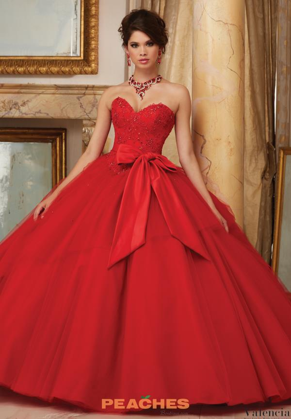 Valencia Quinceanera Sweetheart Neckline Lace Gown 60003