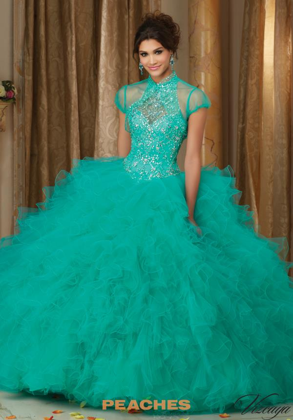 Vizcaya Quinceanera Beaded Tulle Dress 89103