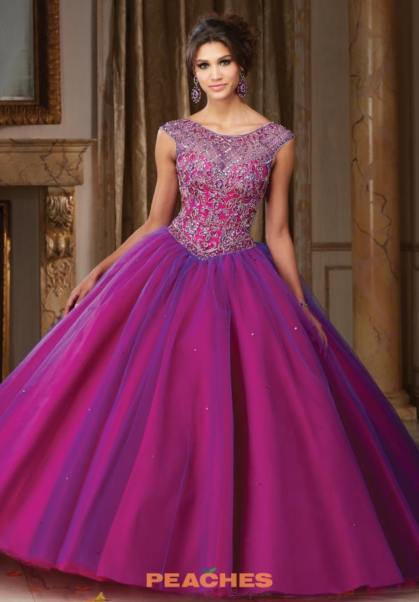 Vizcaya Quinceanera Sleeved Beaded Dress 89104