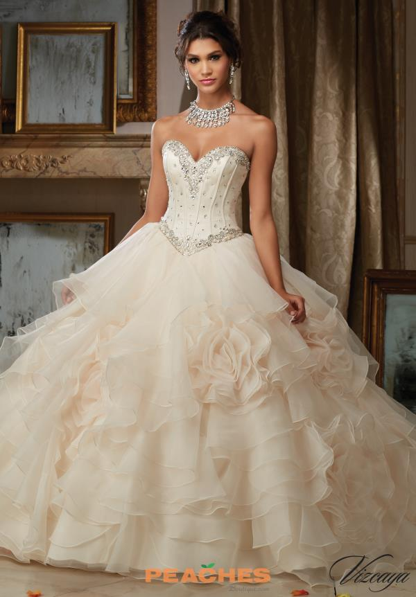 Vizcaya Quinceanera Satin Ball Gown 89105