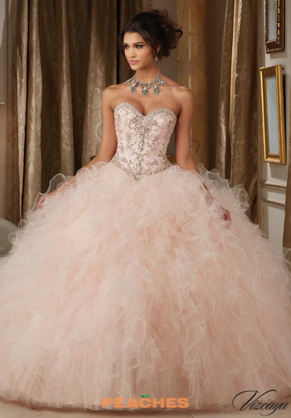 Vizcaya Quinceanera Beaded Corset Ball Gown 89113