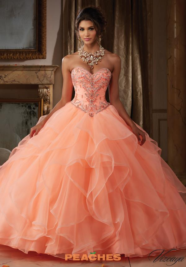 Vizcaya Quinceanera Long Organza Gown 89115