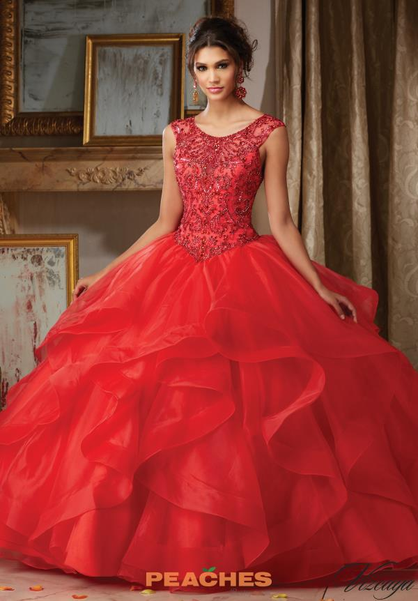 Vizcaya Quinceanera Cap Sleeved Ball Gown 89117