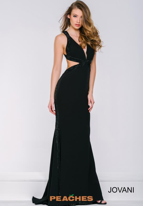 Open Back Fitted Jovani Dress 32383