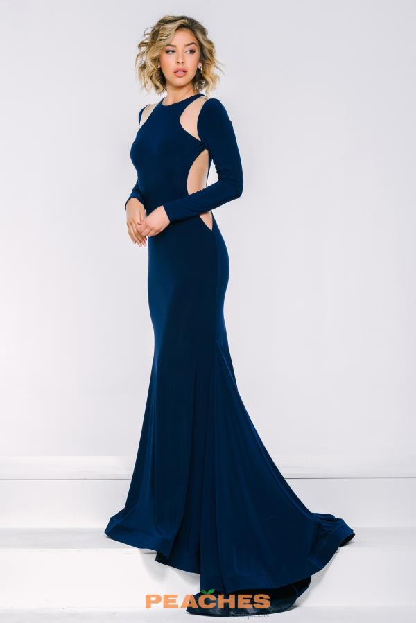 Jovani Long Jersey Dress 35343