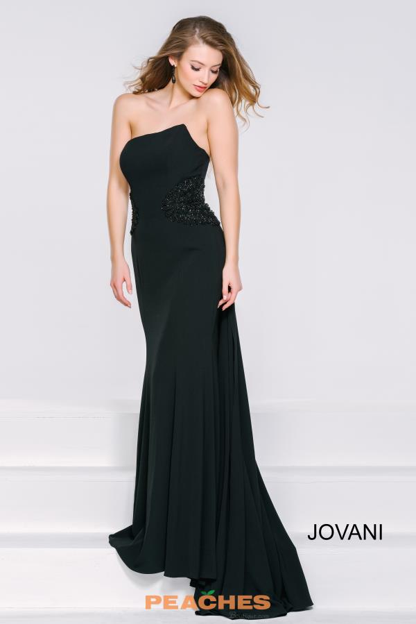 Strapless Fitted Jovani Dress 36588