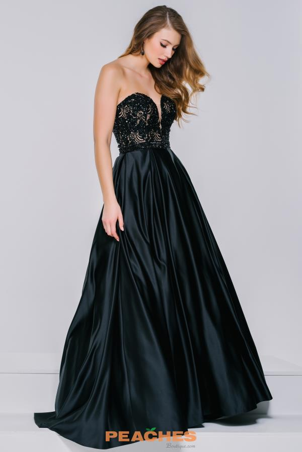 Strapless A Line Jovani Dress 36640