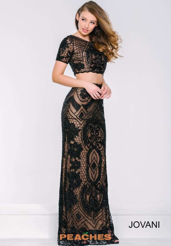 Jovani Beaded Two Piece Dress 37701