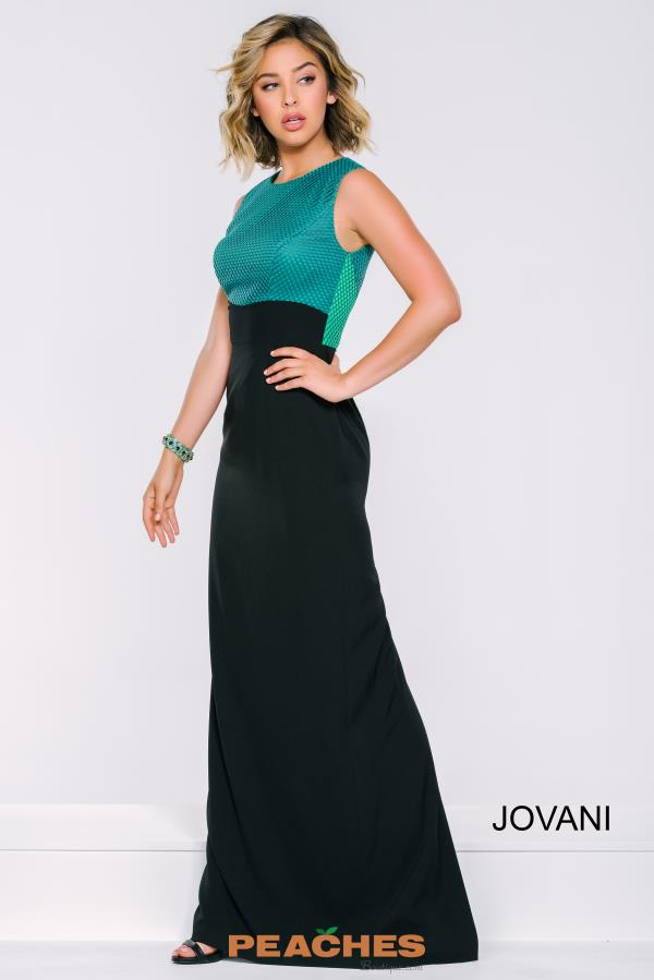 Jovani Long Black Dress 39212