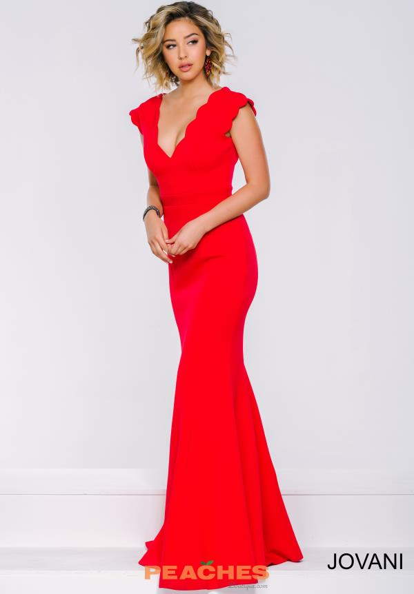 Cap Sleeved Fitted Jovani Dress 39360