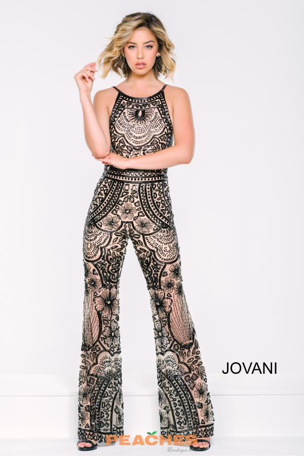 Jovani Black Open Back Dress 40450