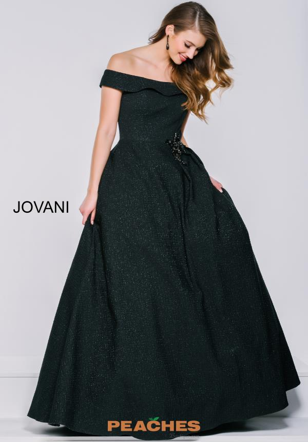 Jovani Black A Line Dress 40555