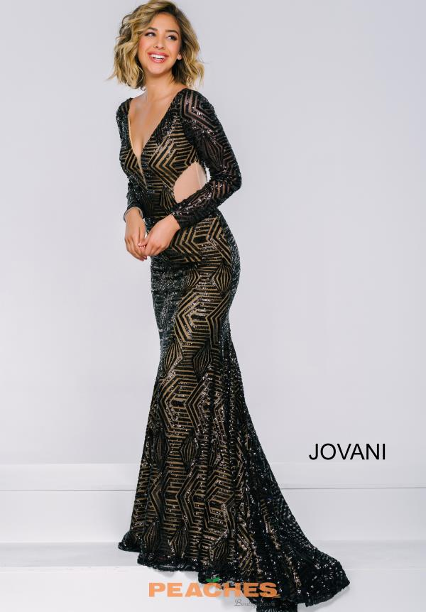 Long Sleeved Fitted Jovani Dress 40733