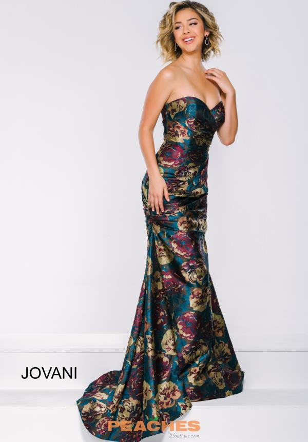 Jovani Print Fitted Dress 45363
