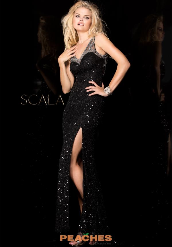Scala Sequins Fitted Dress 48549