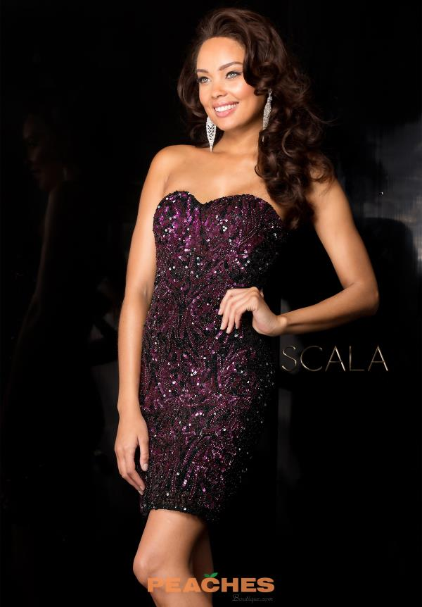 Scala Fitted Sequins Prom Dress 48560