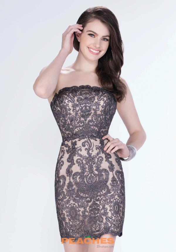Strapless Lace Shorts by Mon Cheri Dress MCS21670