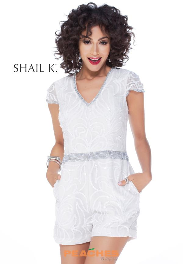 Sleeved Beaded Shail K Dress 1040