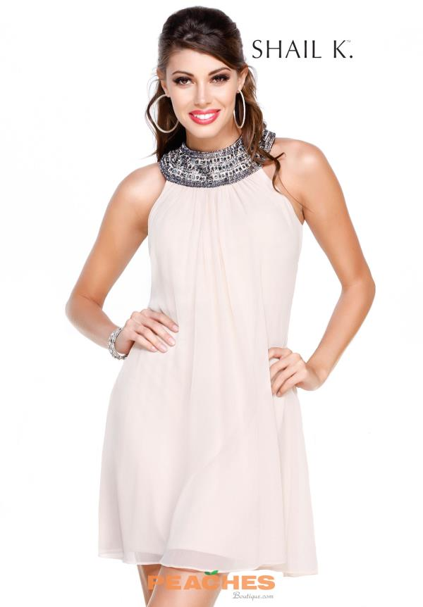 Shail K Beaded Short Dress 1065