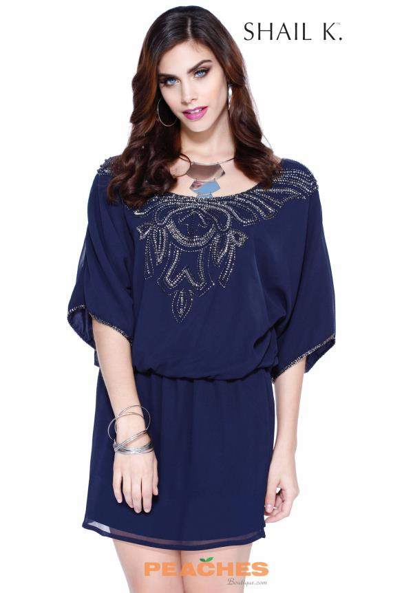 Shail K Short Chiffon Dress 1070