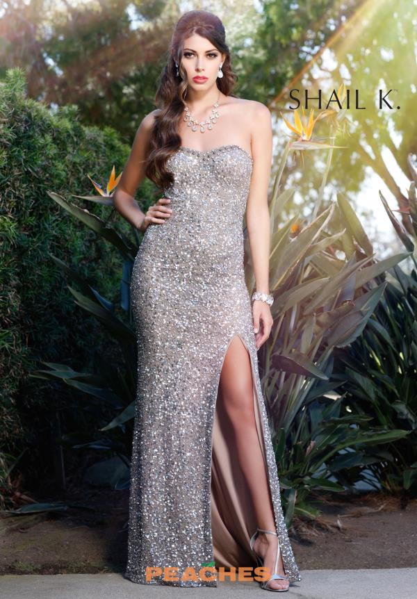 Strapless Beaded Shail K Dress 3133