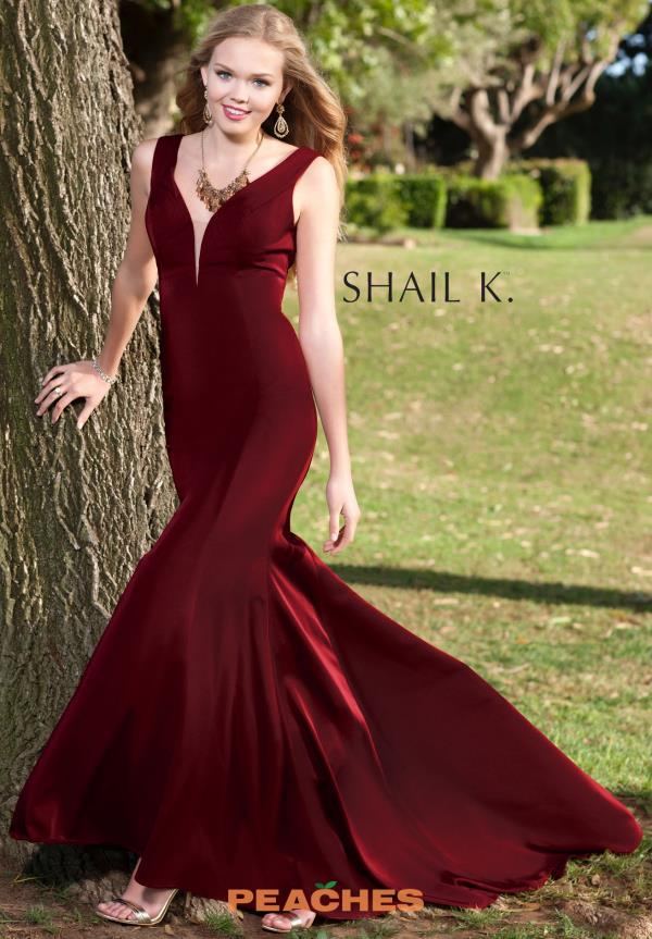 Shail K Sexy Fitted Prom Dress 3980