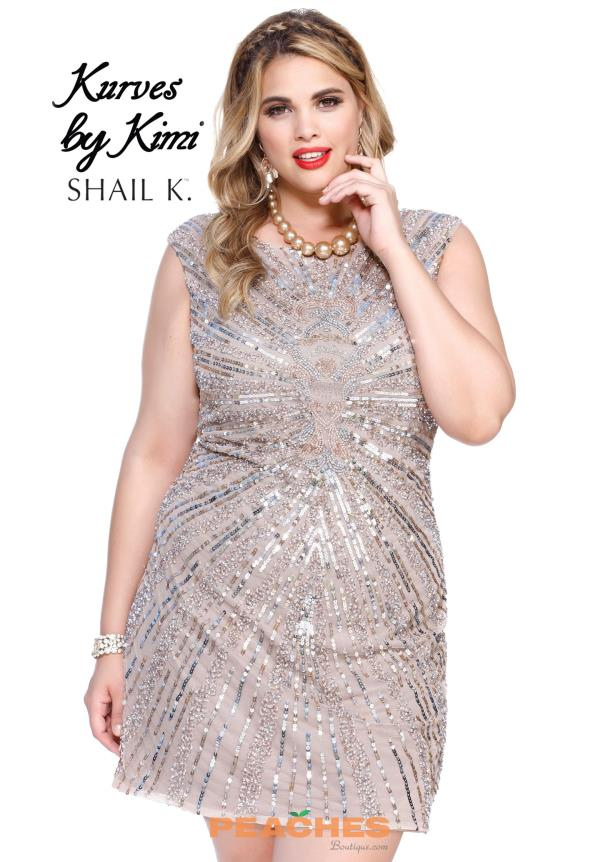 Shail K Sequins Fitted Dress 1078X