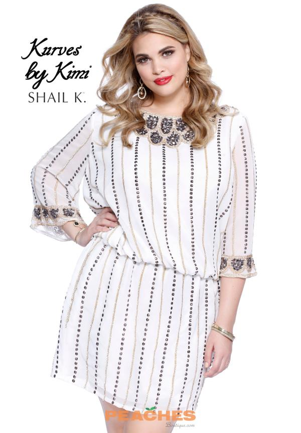Shail K Sleeved Short Dress 1093X