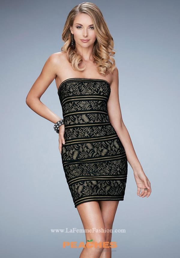 La Femme Short Fitted Dress 22863