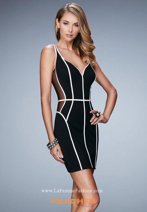 La Femme Short Fitted Dress 23254
