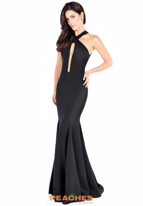 Evenings by Mon Cheri Fitted Black Dress MCE21612