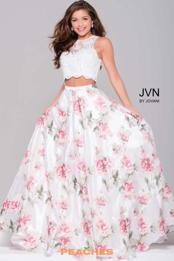 JVN by Jovani Print A Line Dress JVN41771