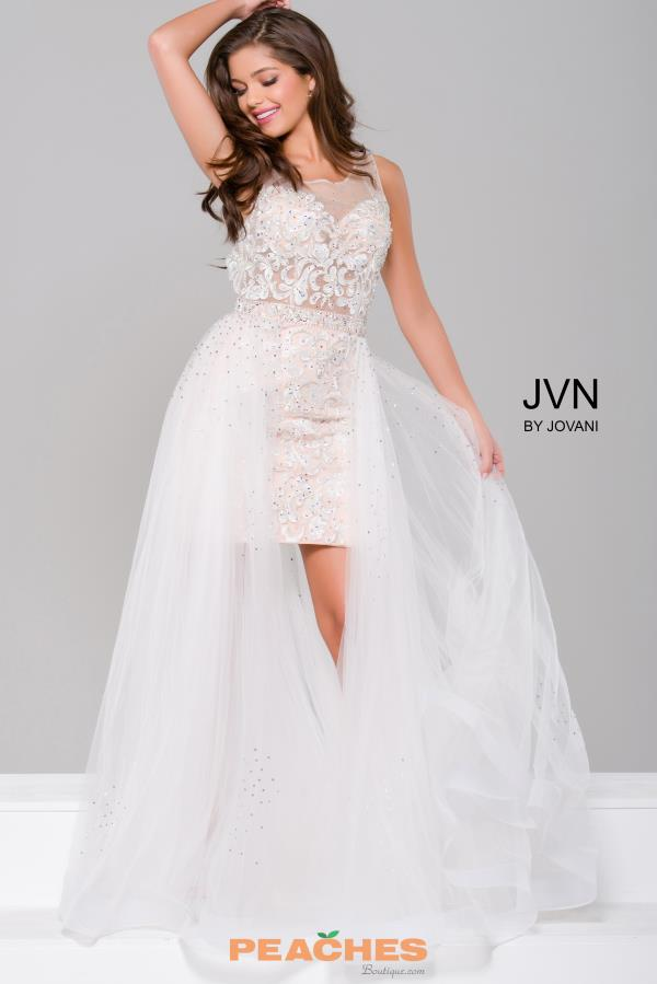 JVN by Jovani Long High Low Dress JVN45673