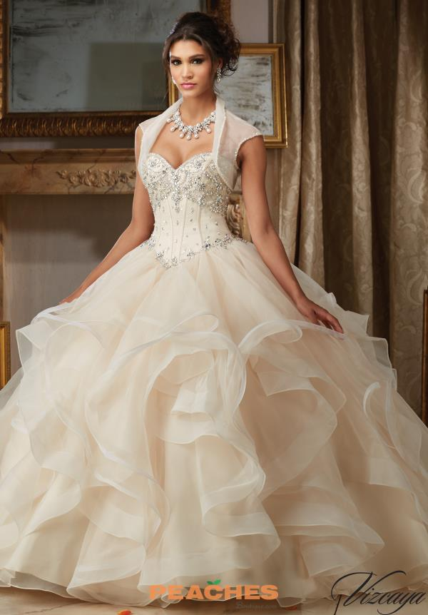 Sweetheart Neckline Beaded Vizcaya Quinceanera Dress 89107