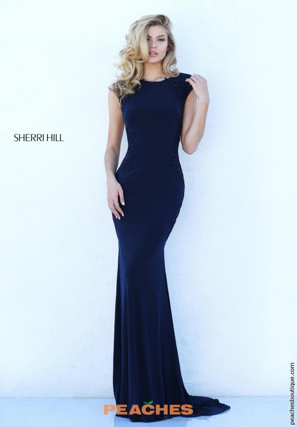 Sherri Hill High Neckline Fitted Dress 50763
