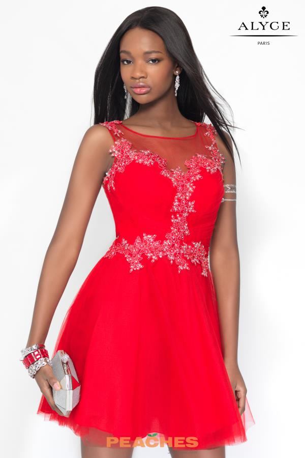 Alyce Short Beaded A Line Dress 3692