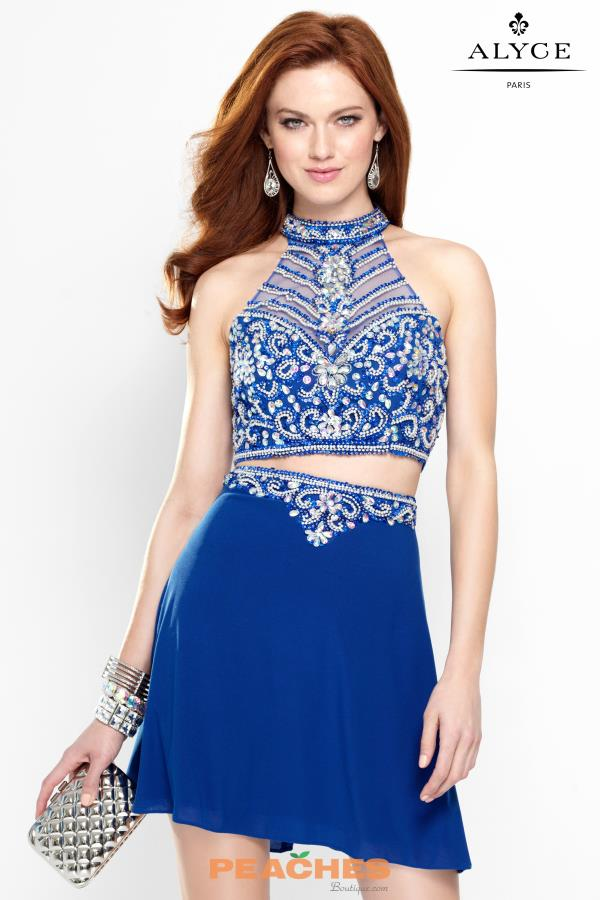 Alyce Short Two Piece Beaded Dress 46548