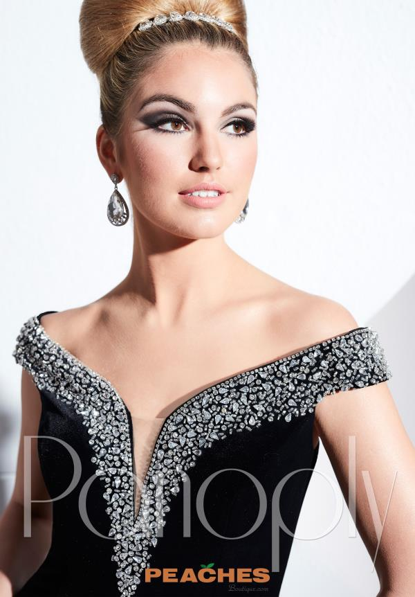 Panoply Cap Sleeved Beaded Dress 44285