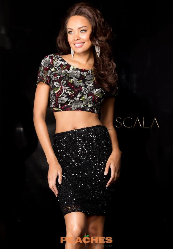 Scala Two Piece Sequins Dress 25411
