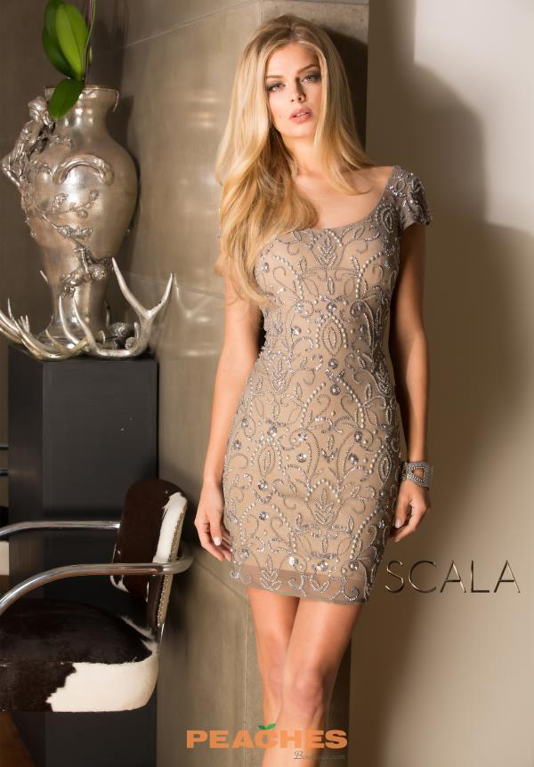 Scala Sleeved Fitted Dress 48489
